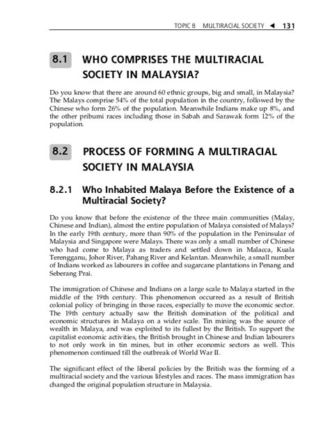 Two Different Cultures Essay by Topic 8 Multiracial Society