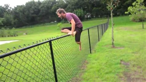 jumping fence charles trippy jump fence fail