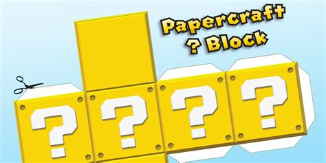 printable mario question mark build your own papercraft printable blocks play nintendo