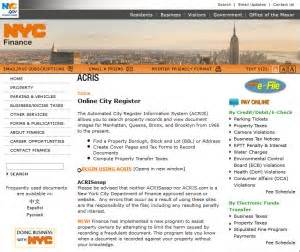 Acris Property Records City Register Offices Of Eric Michael Pasinkoff Esq