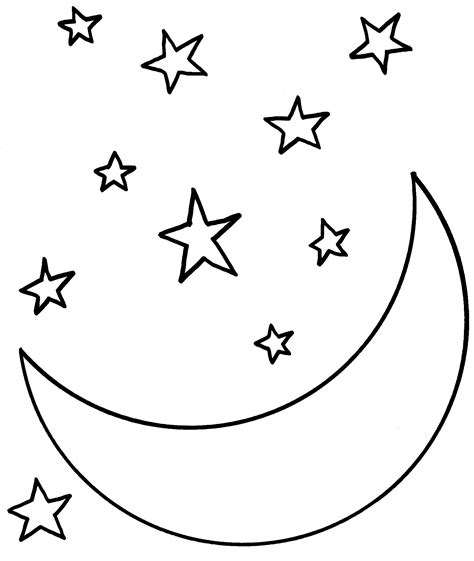 day and night coloring page for kindergarten звезда