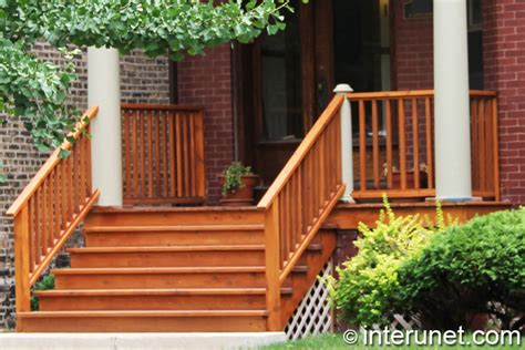 veranda holz wood porch and stairs stained interunet