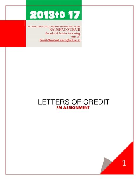 Third Letter Of Credit Letters Of Credit