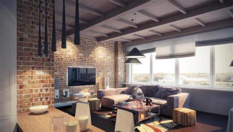 modern lighting ideas  stylish loft living spaces