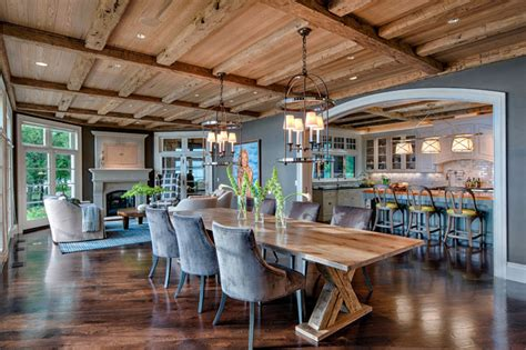 urban home design inc rustic elegance transitional dining room other metro by deleers construction inc
