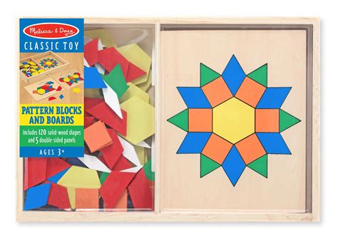 geometric pattern games amazon com melissa doug pattern blocks and boards