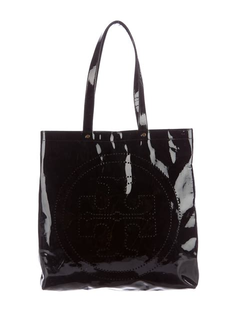 Ada Patent Leather Tote by Burch Patent Leather Perforated Tote Handbags