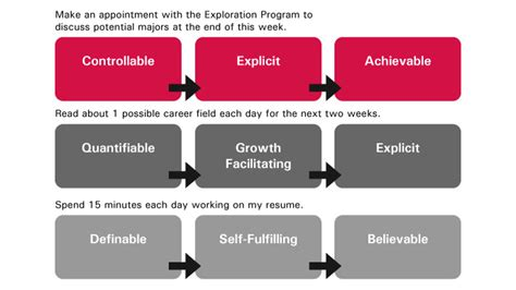Resume Goal Examples by The Goal Setting Process Buckeye Onpace