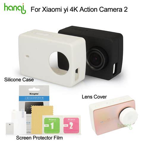 Silicone Lens Cap Cover Xiaomi Yi 2 4k kingma xiaomi yi 4k screen protector xiaomi yi 4k ii silicone lens cover for xiaomi