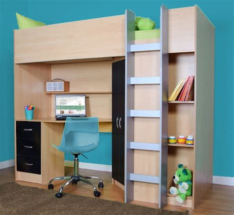 High Sleeper Bed With Desk And Wardrobe by High Sleeper Cabin Bed With Desk And Wardrobe Calder