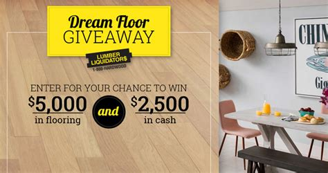 Lumber Liquidators Sweepstakes 2017 - diy network lumber liquidators dream floor giveaway 2018