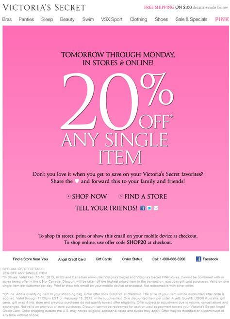 Can You Use Victoria Secret Gift Card At Pink - printable coupons victoria s secret coupons