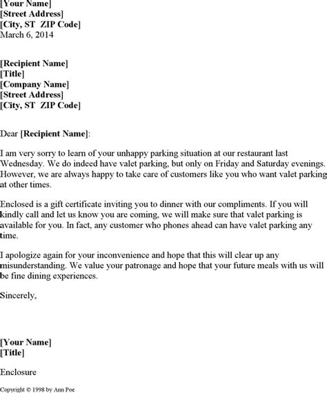 Apology Letter For Hotel Maintenance Apology Letter To Customer Template Free Speedy Template