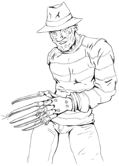 the gallery for gt freddy krueger coloring pages