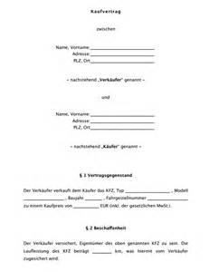 Angebot Pkw Muster Kfz Kaufvertrag K 228 Ufersicht Muster Zum Herunterladen