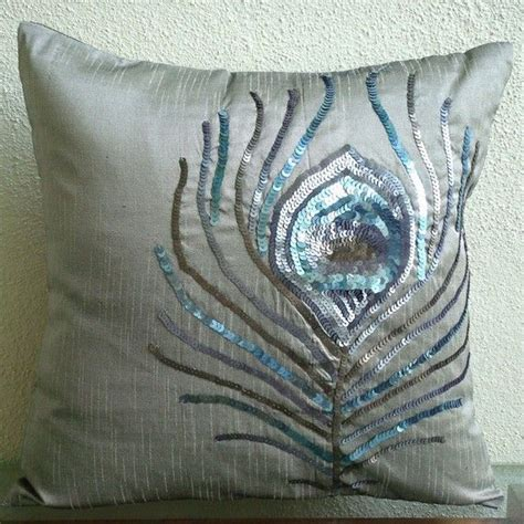 turquoise 17 quot cushion pillow cover peacock silk brocade 779 best pillow talk images on pinterest accent pillows