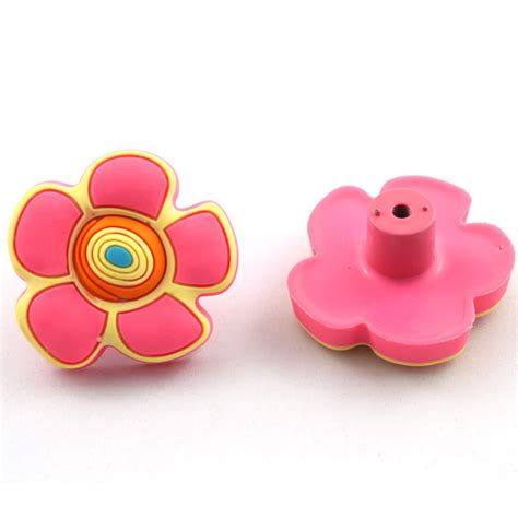 Childrens Furniture Knobs by Pink Flower Rubber Drawer Knob Sepcial For Furniture