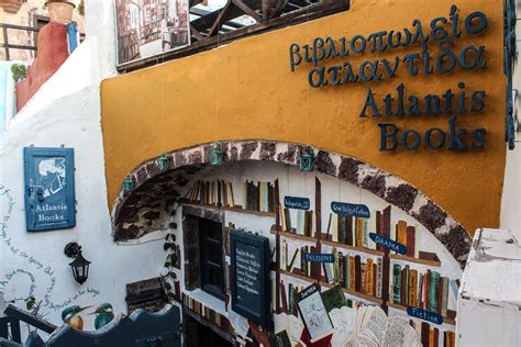 atlantis books atlantis books on santorini is potentially the coolest