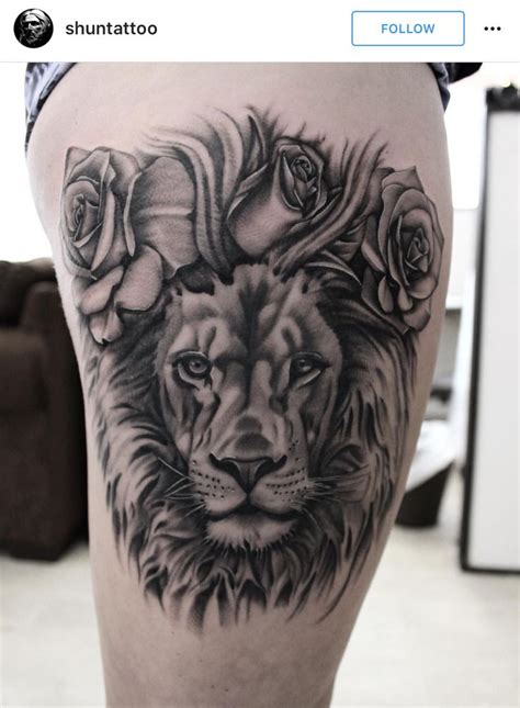 lion rose tattoo 17 best ideas about design on
