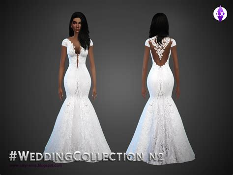 Wedding Dress The Sims 4 by My Sims 4 Wedding Dress Collection By Luxy
