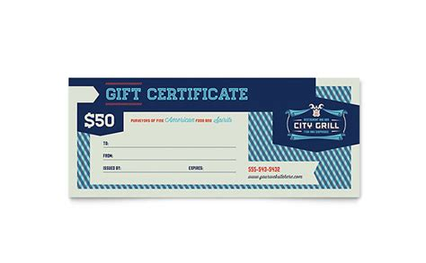 Fine Dining Restaurant Gift Certificate Template Design Gift Certificate Template Ai