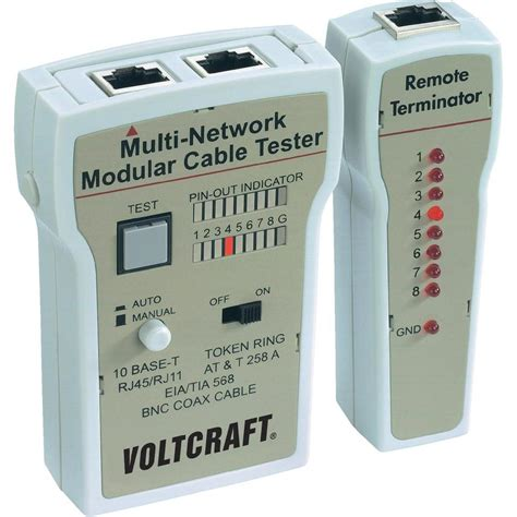 wire tester voltcraft ct 2 cable tester suitable for rj 45 bnc rj 11
