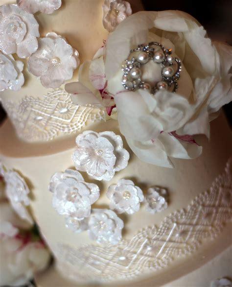 Wedding Cake Edible Lace by Intricate Edible Lace Wedding Cake Ambrosia Cake Creations