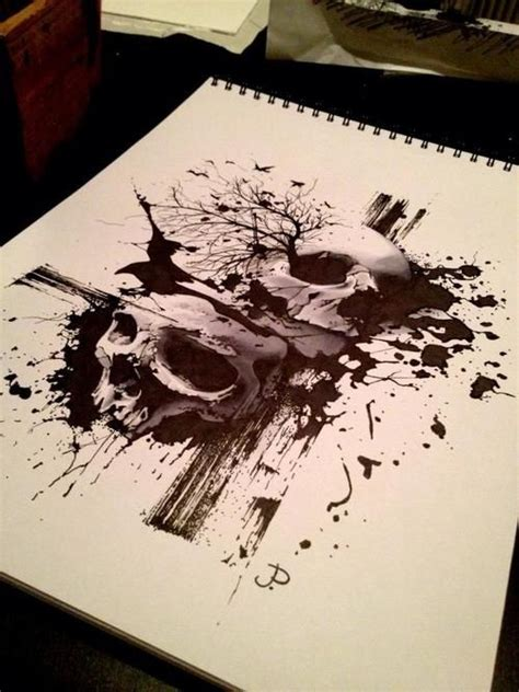 splatter tattoo designs pin for ink splatters and tree branches ideas