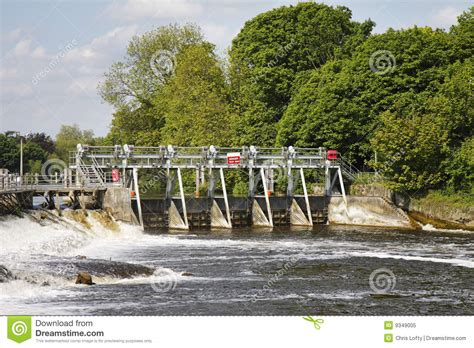 thames river france weir in the river ardeche in france stock photography