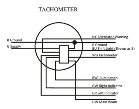 alternator with tach wiring diagram free wiring
