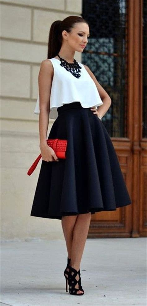 Tie Waist Pleated Plain Midi Skirt 25 best ideas about black skirts on black