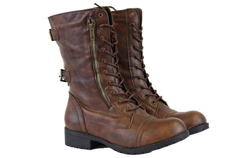 combat boots for fashion mid lace up boot ankle high cowboy combat fashion