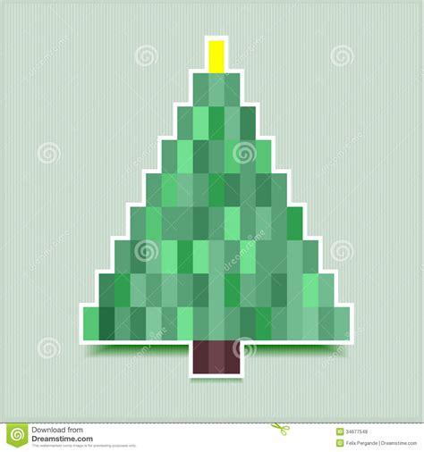 pixel christmas tree royalty free stock photos image