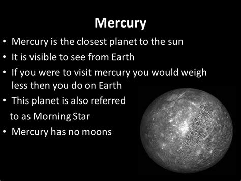 What Is The Closet Planet To The Sun by The Solar System In This Lesson You Will Learn About Each