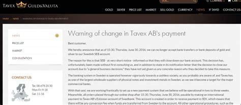 Closing Letter In Swedish Swedish Gold Dealer S Bank Accounts Shut
