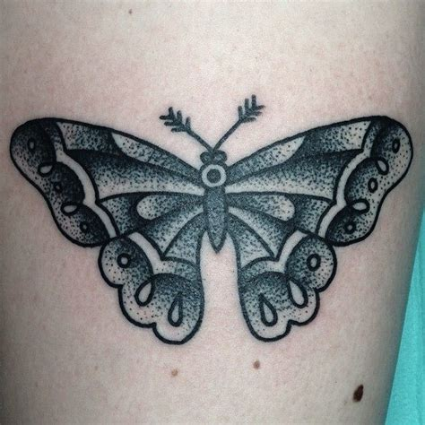 black and grey moth tattoo traditional tattoo butterfly tattoo black and white