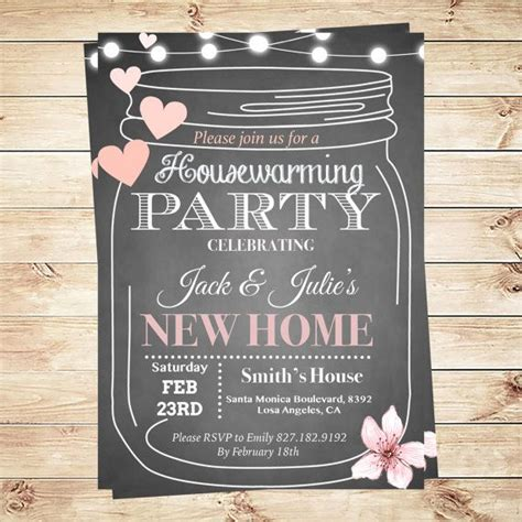housewarming party invitations template by diy party
