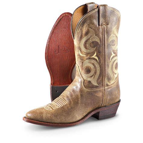 justin mens cowboy boots s justin 174 desperado pull on boots cafe 221728