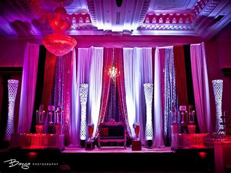 gorgeous red, pink and purple mandap design   indian desi