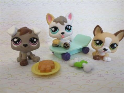 pet shop puppies littlest pet shop lot of 3 puppies petriplets husky dogs 1876 1877 1878 shops
