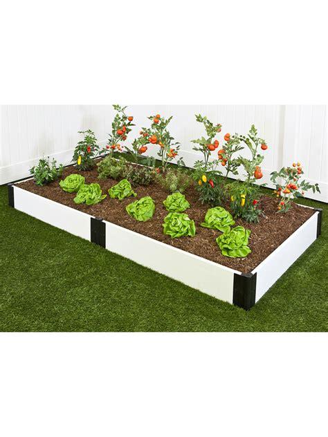 classic white raised garden bed  gardeners supply