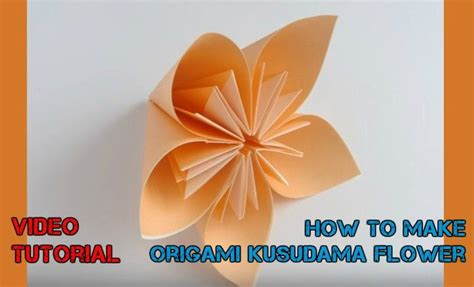 How To Make Easy Flower With Paper - how to make easy origami flowers