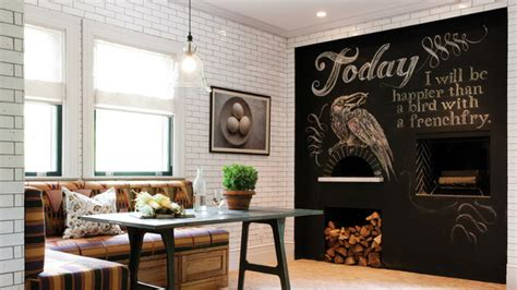 chalkboard accents in dining room spaces modern home