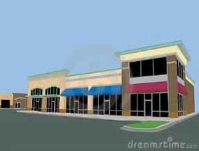 Beige toned strip mall royalty free stock images image 14101329