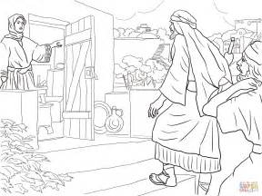 free bible coloring pages naaman new room built for elisha coloring