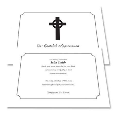 Funeral Acknowledgement Cards Template by Acknowledgement Cards 100 Harvest Moon Print Design