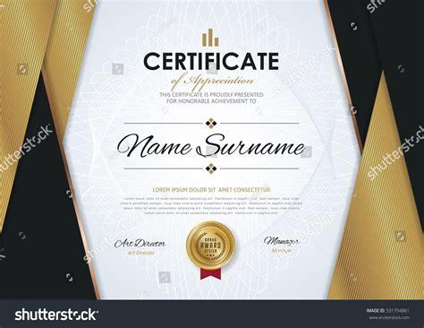 golden pattern award certificate template luxury golden elegant pattern stock