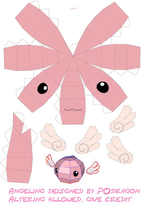 best photos of kawaii papercraft template bunny