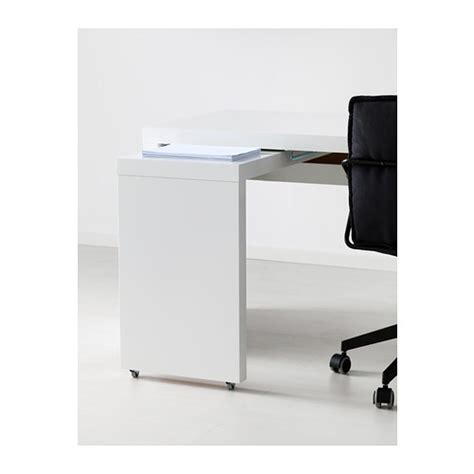 Malm Desk With Pull Out Panel White 151x65 Cm Ikea White Malm Desk