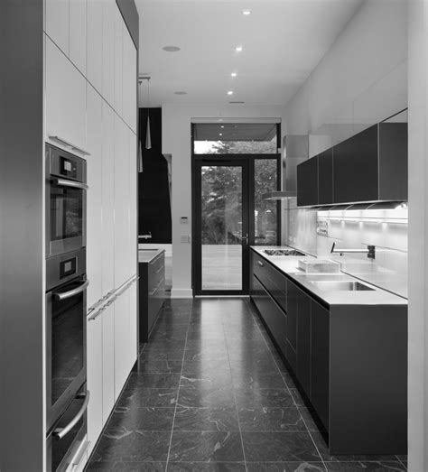 exquisite two tone white and grey kitchens decors for modern galley kitchen ideas added white